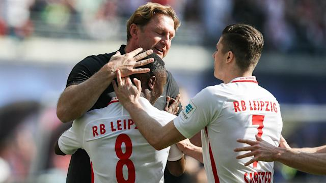 RB Leipzig ended a run of three Bundesliga matches without a win against Darmstadt, Naby Keita scoring once in either half.