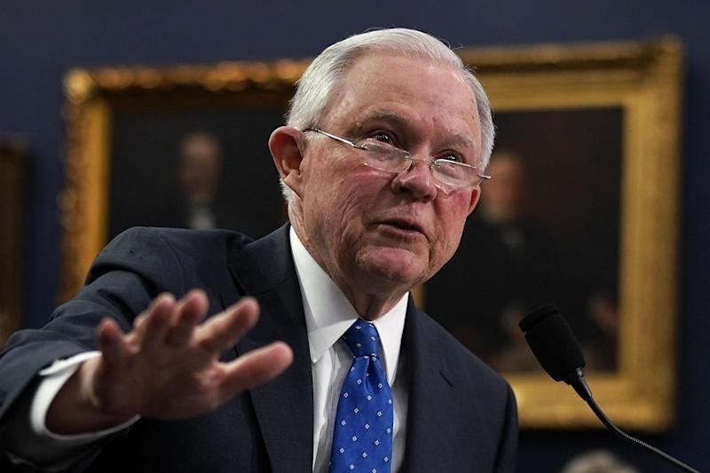 Attorney General Jeff Sessions testifies during a hearing before the Commerce, Justice, Science, and Related Agencies Subcommittee of the House Appropriations Committee: Alex Wong/Getty Images