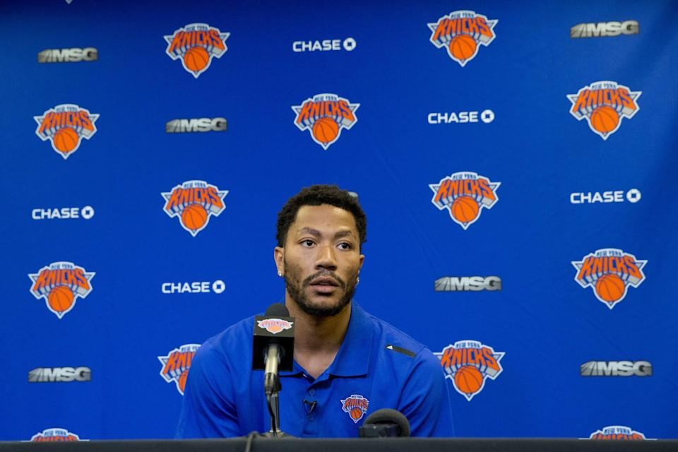 The Knicks need Derrick Rose to remain healthy. (AP)