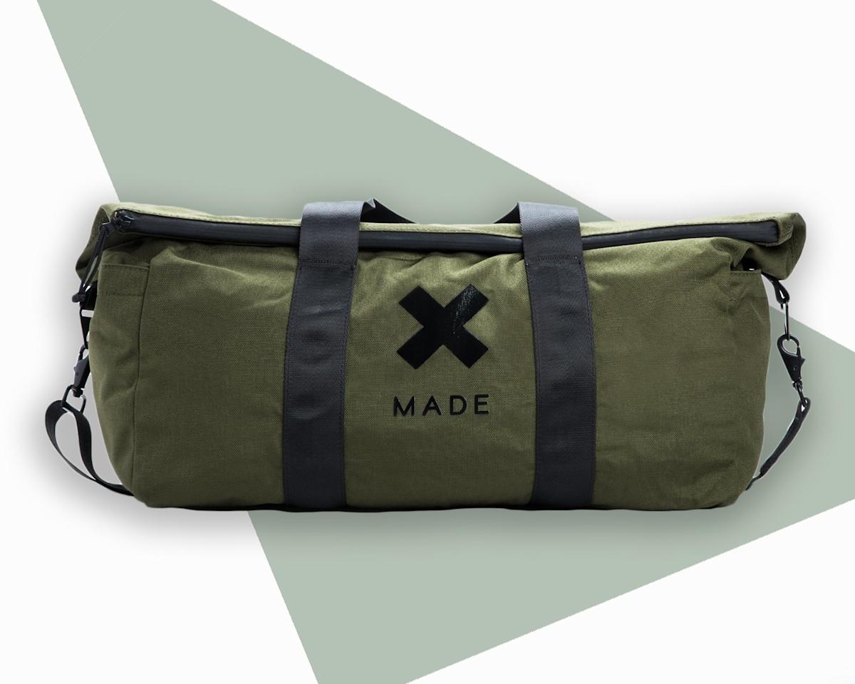 """<p>Made of 1000 denier Cordura (read: tear- and fade-resistant) nylon and detailed with densely woven seat belt-style webbing straps and all-metal hardware, this is the duffle to take on your most adventurous getaways. Bonus: It's lined in khaki twill for better interior visibility when digging around for that elusive phone charger.</p> <p><strong>Buy now:</strong> $168, <a href=""""https://www.bestmadeco.com/products/sws-cordura-50-liter-roll-top-duffle?option_values=4875"""" rel=""""nofollow"""">bestmadeco.com</a></p>"""