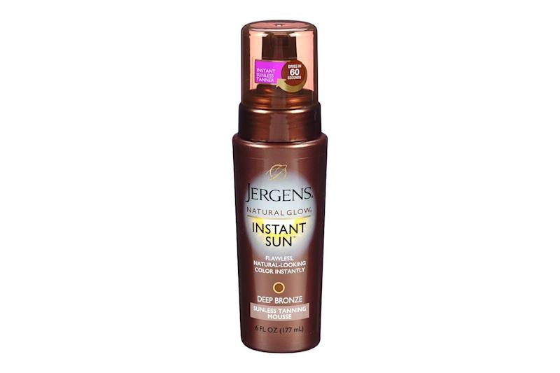 Jergens Natural Glow Instant Sun Deep Bronze Sunless Tanning Mousse