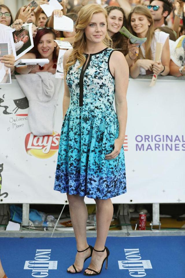 Actress Amy Adams on the blue carpet at the Giffoni Film Festival. (Photo: Stefania D'Alessandro/WireImage)