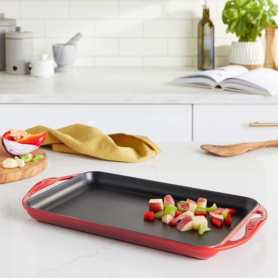 <p><span>Le Creuset Enameled Cast Iron Rectangular Skinny Griddle</span> ($90, originally $160)</p>