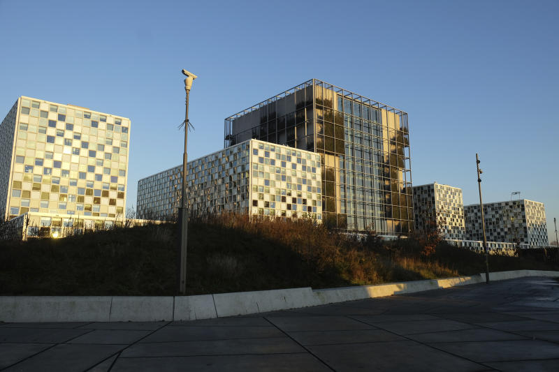 Exterior view of the International Criminal Court, or ICC, in The Hague, Netherlands, Wednesday Dec. 4, 2019. Prosecutors are appealing to International Criminal Court judges to authorize a wide-ranging investigation into alleged crimes in Afghanistan's brutal conflict. In April, a panel of judges rejected a request by the court's prosecutor, Fatou Bensouda, to open an investigation into crimes allegedly committed by the Taliban, Afghan security forces and American military and intelligence agencies.(AP Photo/Mike Corder)