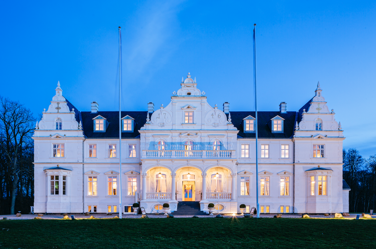 """<p><span>True grandeur awaits at <a rel=""""nofollow"""" href=""""http://www.slh.com/kokkedal"""">this renaissance castle</a>, just north of Copenhagen. Dating back to 1746, it is set on the coastline and is fringed by lush parkland, while inside you'll find chandeliers and ornate furnishings. The bright and stylishly rooms are split between the castle and the old lodge which are connected via an underground passage. B&B doubles from £196 per night. [Photo: SLH]</span> </p>"""