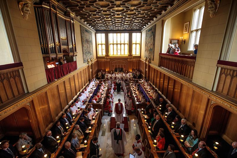 Inside the Chapel Royal at St. James' Palace in London, where Princess Beatrice will be married in May.