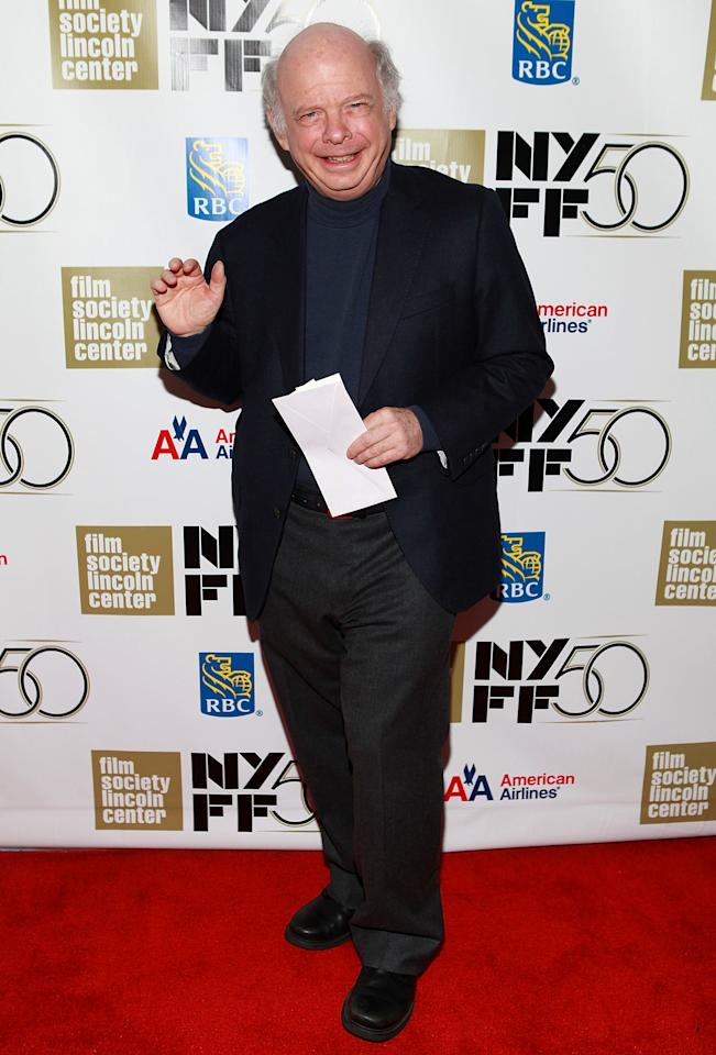 "NEW YORK, NY - SEPTEMBER 30:  Actor Wallace Shawn attends the ""Frances HA"" - Gala Presentation - 50th New York Film Festival at Alice Tully Hall on September 30, 2012 in New York City.  (Photo by Robin Marchant/Getty Images)"