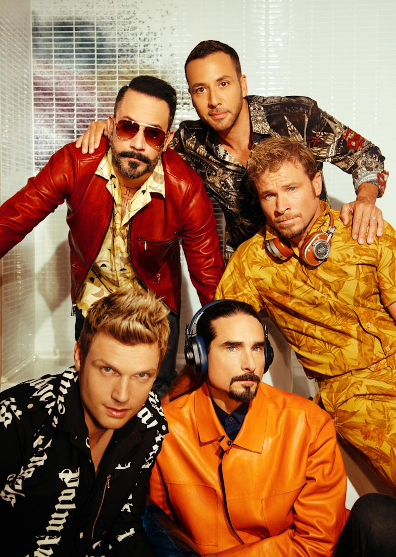 The Backstreet Boys photographed by Charlotte Rutherford, 2017. Photo courtesy of Charlotte Rutherford.