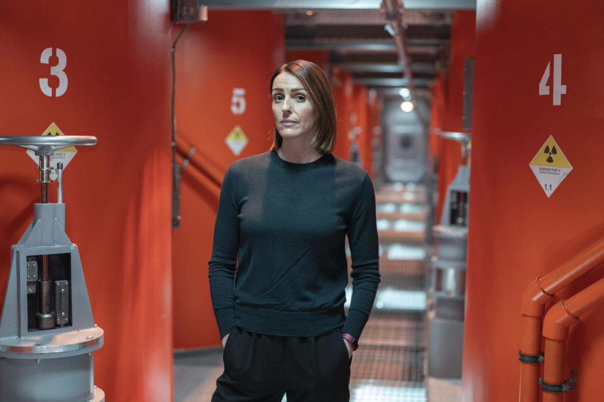 Suranne Jones stars as a police officer investigating a death on board a submarine in 'Vigil'. (BBC)