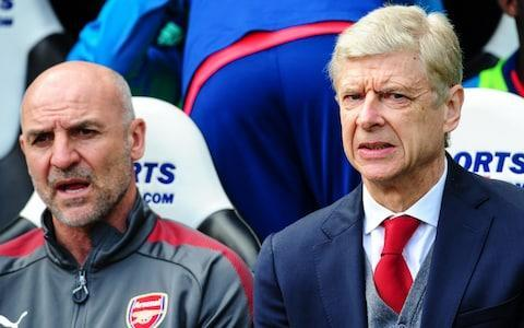 <span>It was another awful away day for Steve Bould (L) and Arsene Wenger (R)</span> <span>Credit: Getty Images </span>