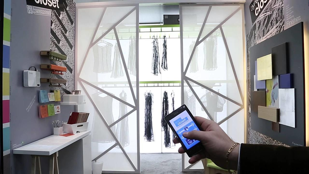 "<p>Designed by Italian-based company Metalprogetti, this smart closet is a futuristic dry-cleaning rack for your home with an electric motor that allows you to manipulate your wardrobe. Gone are the days of forgetting where your favorite blue shirt is; the company is a few months away from completing a smartphone app that can tag each item of clothing with a number. That means if that shirt is associated with number 57, for example, all you have to do is press a button on the app, and voilà: There is your shirt. Everything is custom built, which means the unit can fit any space; <em>Prices can vary depending on customization, with an average closet costing $7,000. <a rel=""nofollow"" href=""http://www.metalprogetti.it/index.php?mbid=synd_yahoolife"">metalprogetti.it/</a></em></p>"