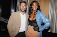 <p>Laverne Cox puts her gloves on for Jonathan Simkhai's NYFW dinner at Ian Schrager's PUBLIC hotel, where guests enjoyed Casamigos tequila, on Sept. 12.</p>