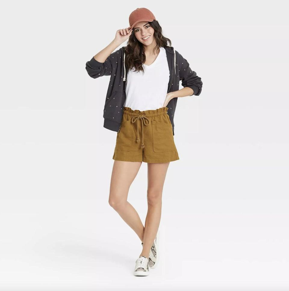 <p>These <span>Universal Thread Mid-Rise Tie Waist Utility Shorts </span> ($20) are perfect for beach days.</p>