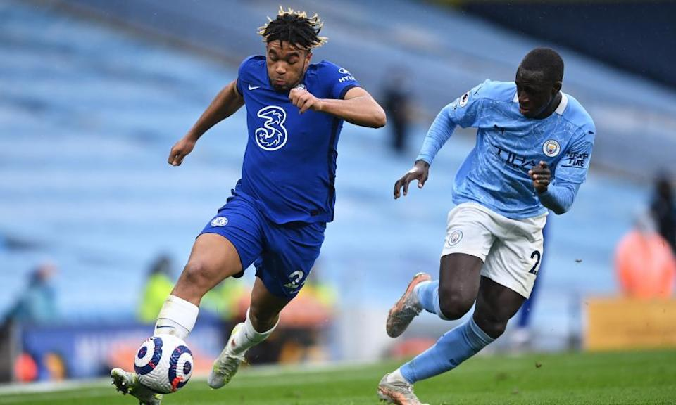 Benjamin Mendy (right) did not take his chance to impress against Chelsea.