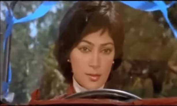 Simi Garewal stars as the greedy, vicious bride who runs over a jeep repeatedly on her loving and unsuspecting newly-wed husband. Undoubtedly, the worst bride ever.