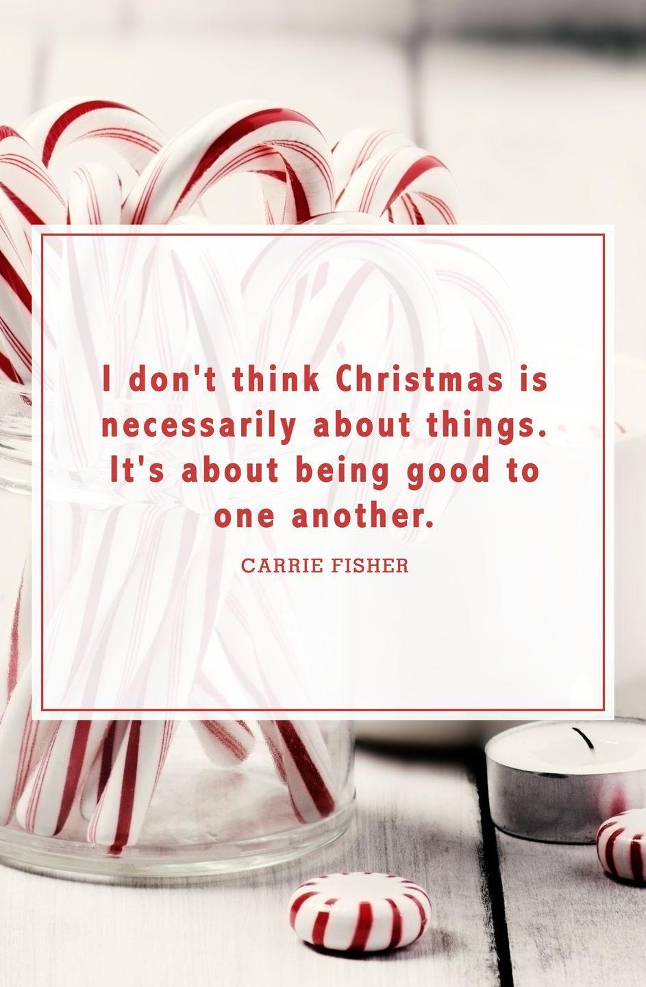 """<p>""""I don't think Christmas is necessarily about things. It's about being good to one another.""""</p>"""