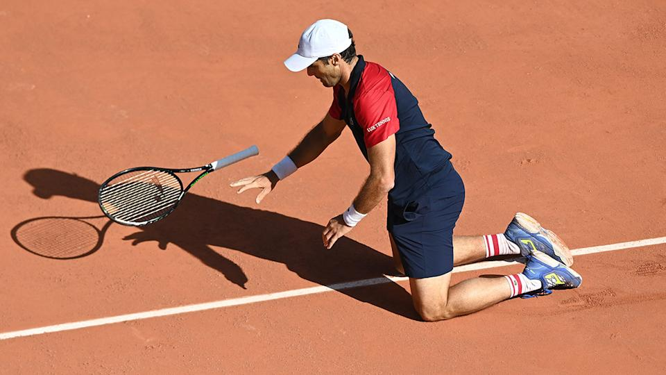 Pablo Andujar, pictured here after beating Dominic Thiem at the French Open.