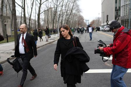 "Joaquin ""El Chapo"" Guzman's defense attorneys Michael Schneider and Michelle Gelernt leave the federal courthouse in the Brooklyn borough of New York City, New York, U.S. January 20, 2017.  REUTERS/Joe Penney"