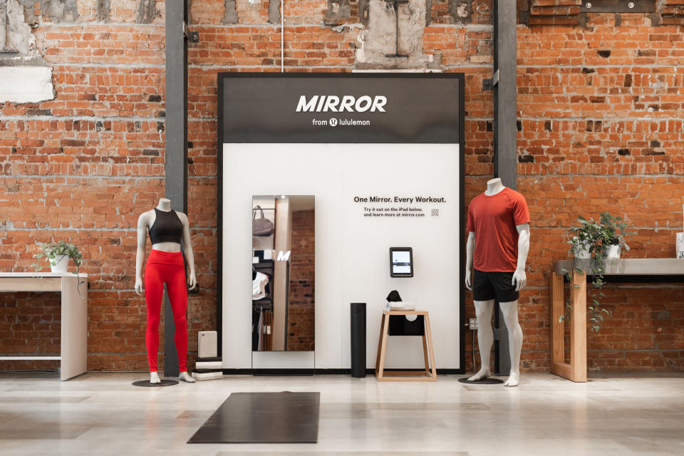 Canada residents can order the MIRROR in Lululemon stores and online beginning November 22. (Photo by Lululemon)