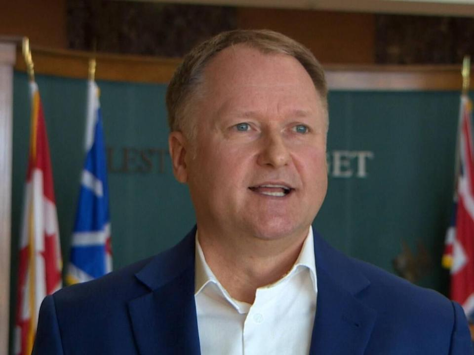 Transportation and Infrastructure Minister Elvis Loveless says he was concerned reading the report from the auditor general, but is focused on moving forward. (CBC - image credit)