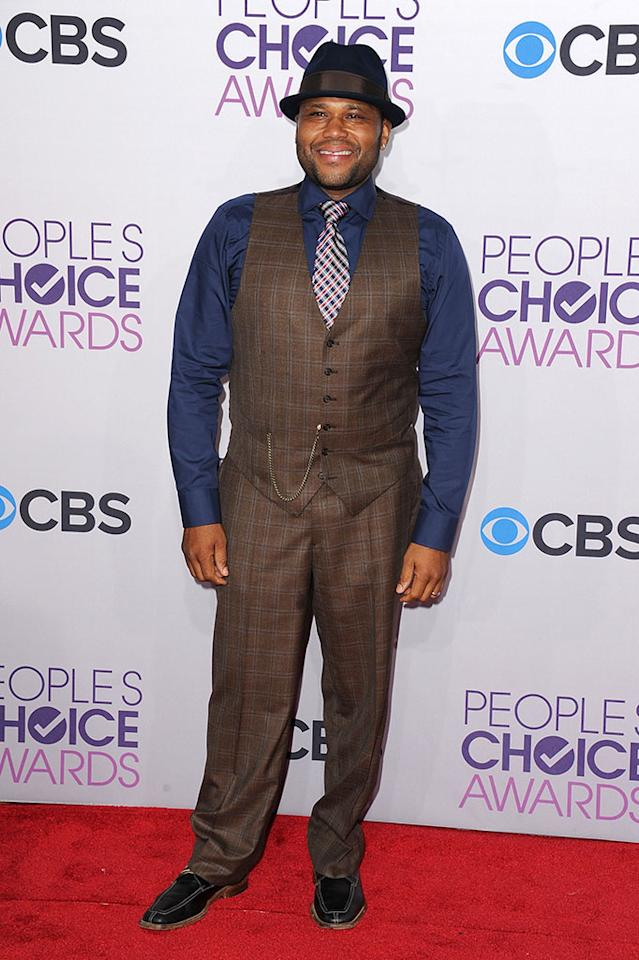 Anthony Anderson attends the 2013 People's Choice Awards at Nokia Theatre L.A. Live on January 9, 2013 in Los Angeles, California.