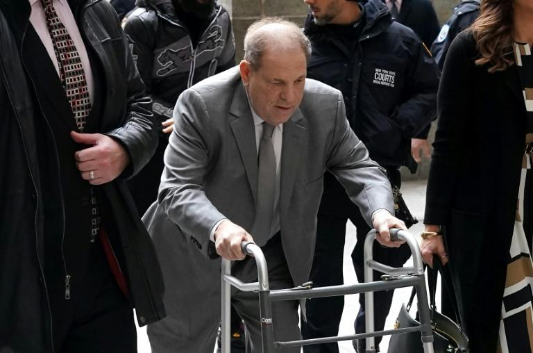 Harvey Weinstein arrives at Manhattan Criminal Court on January 7 for the second day of his criminal trial on charges of rape and sexual assault (AFP Photo/TIMOTHY A. CLARY)