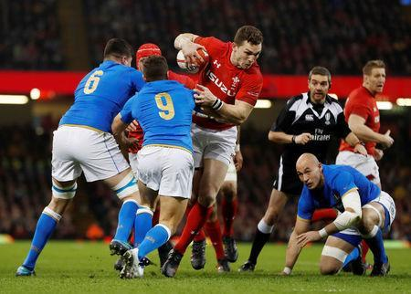 Rugby Union - Six Nations Championship - Wales vs Italy - Principality Stadium, Cardiff, Britain - March 11, 2018 Wales' George North in action with Italy's Marcello Violi Action Images via Reuters/Paul Childs