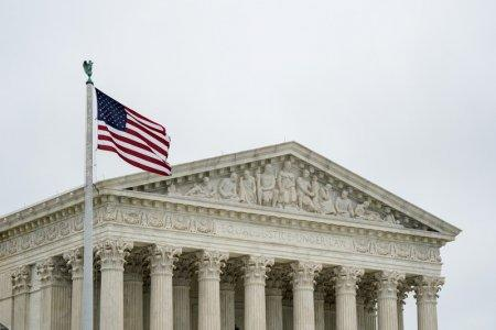 The U.S. Supreme Court is seen after the court revived Ohio's contentious policy of purging infrequent voters from its registration rolls, overturning a lower court ruling that Ohio's policy violated the National Voter Registration Act, in Washington, U.S., June 11, 2018. REUTERS/Erin Schaff