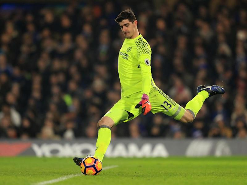 Courtois's poor kick handed City an equaliser (Getty Images)