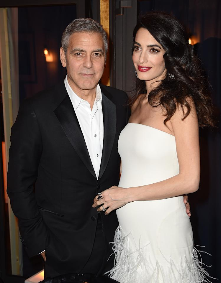"""<p>The couple became first-time parents by welcoming twins on June 6, 2017—a girl named Ella and a boy named Alexander. """"Ella, Alexander, and Amal are all healthy, happy and doing fine. George is sedated and should recover in a few days,"""" their rep told <em><a rel=""""nofollow"""" href=""""http://people.com/babies/george-clooney-amal-clooney-welcome-twins/"""">People</a>.</em></p>"""