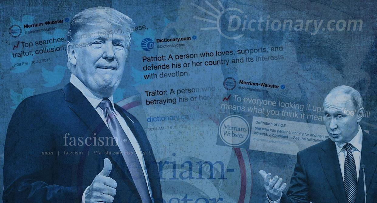 Patriot' vs  'traitor,' 'yes' vs  'no': Are dictionary sites