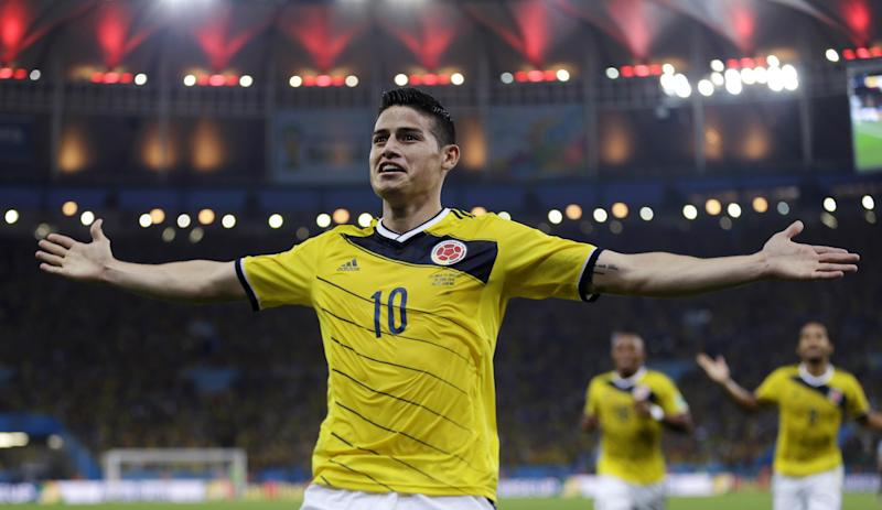 Colombia s James Rodriguez trying to steal Neymar s spotlight ... 174266b12