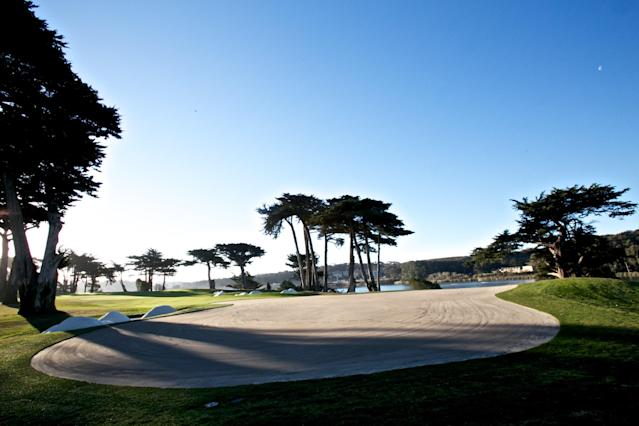 "<div class=""caption""> The 16th hole at TPC Harding Park. </div>"