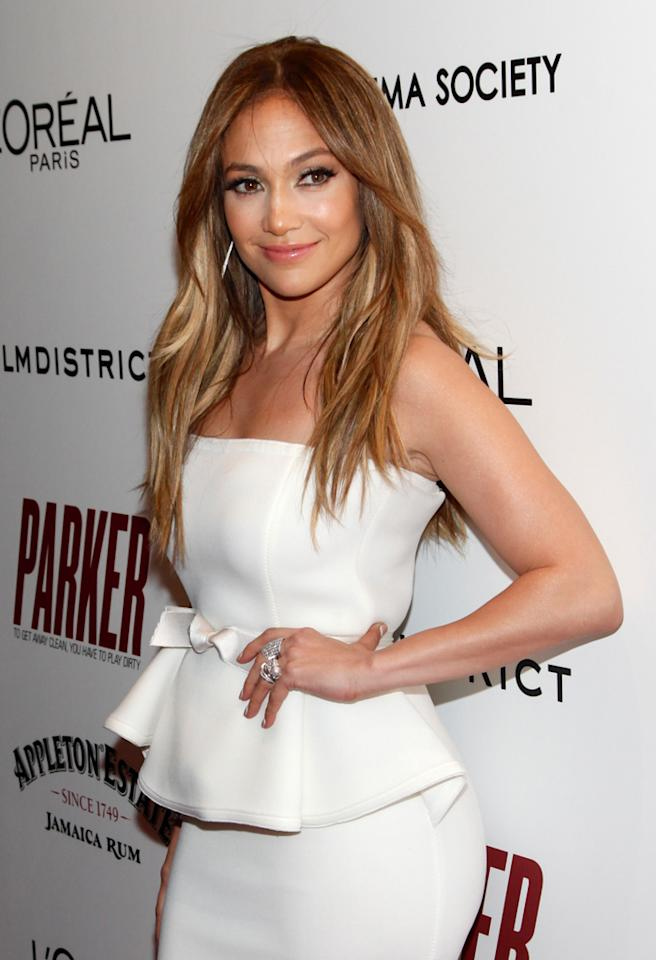 "NEW YORK, NY - JANUARY 23:  Actress Jennifer Lopez attends the FilmDistrict with The Cinema Society, L'Oreal Paris & Appleton Estate screening of ""Parker"" at The Museum of Modern Art on January 23, 2013 in New York City.  (Photo by Charles Eshelman/FilmMagic)"