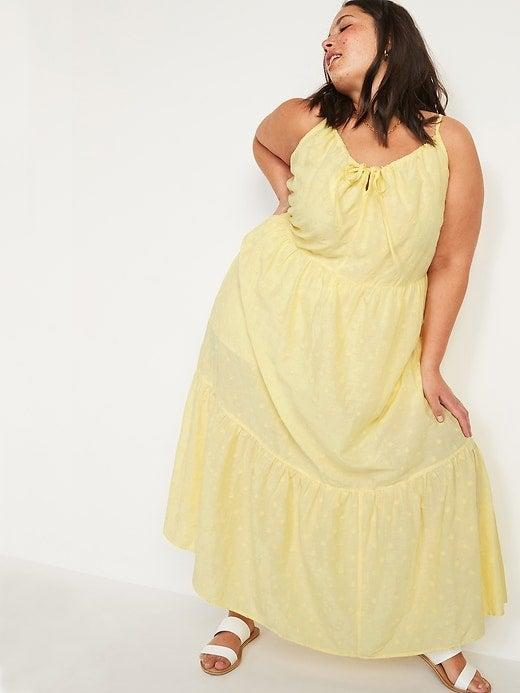 """<br><br><strong>Old Navy</strong> Tiered Embroidered Maxi Swing Plus-Size Sundress, $, available at <a href=""""https://go.skimresources.com/?id=30283X879131&url=https%3A%2F%2Foldnavy.gap.com%2Fbrowse%2Fproduct.do%3Fpid%3D699563002"""" rel=""""nofollow noopener"""" target=""""_blank"""" data-ylk=""""slk:Old Navy"""" class=""""link rapid-noclick-resp"""">Old Navy</a>"""