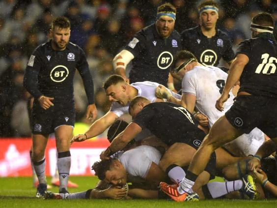 Genge hit out at England's critics after scoring the match-winning try (Getty)