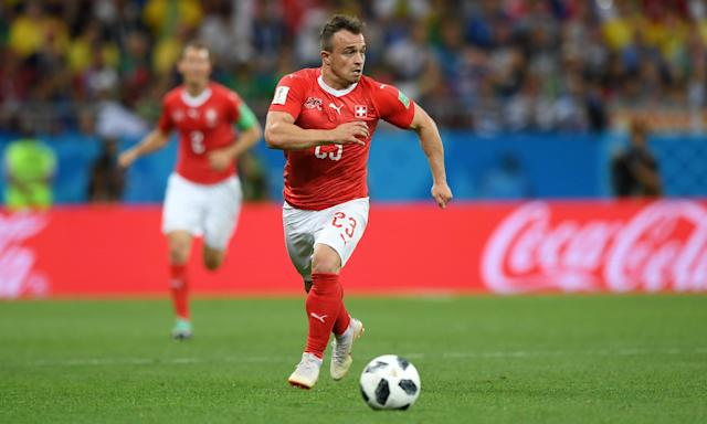 Xherdan Shaqiri's boots have been a talking point in the buildup to Serbia v Switzerland.