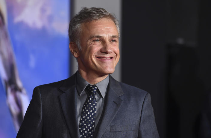 """FILE - Christoph Waltz arrives at the premiere of """"Alita: Battle Angel"""" on Feb. 5, 2019, in Los Angeles. Waltz turns 64 on Oct. 4. (Photo by Jordan Strauss/Invision/AP, File)"""