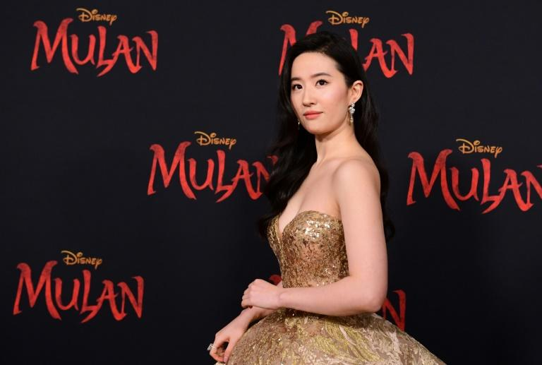 """Actress Yifei Liu attends the world premiere of Disney's """"Mulan"""" at the Dolby Theatre in Hollywood on March 9, 2020"""