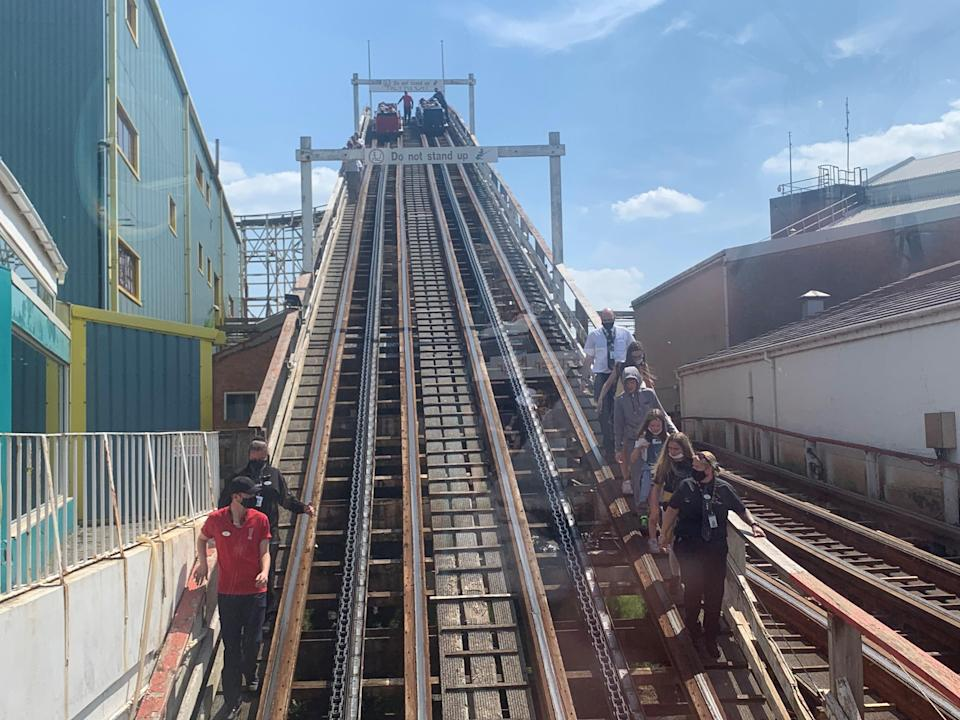 The ride stands 62 feet (19m) high (PA Wire)
