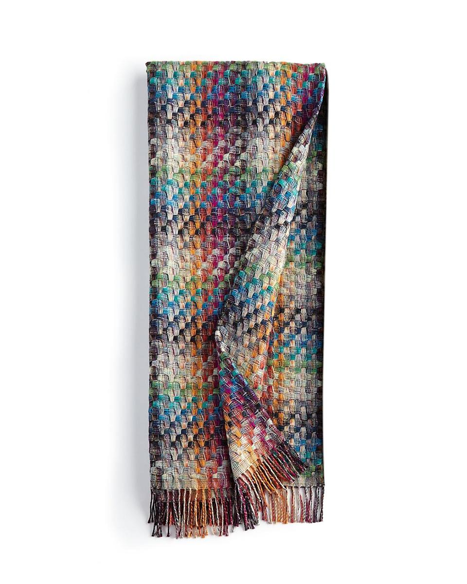 """Missoni Husky Plaid Throw and Montgomery Zigzag Throw, $373; at <a href=""""http://www.neimanmarcus.com/Missoni-Husky-Plaid-Throw/prod174280049_cat16130901__/p.prod?icid=&searchType=EndecaDrivenCat&rte=%252Fcategory.service%253FitemId%253Dcat16130901%2526pageSize%253D30%2526Nao%253D0%2526Ns%253DMAX_PROMO_PRICE%257C1%2526refinements%253D&eItemId=prod174280049&cmCat=product"""" rel=""""nofollow noopener"""" target=""""_blank"""" data-ylk=""""slk:Neiman Marcus"""" class=""""link rapid-noclick-resp"""">Neiman Marcus</a>"""