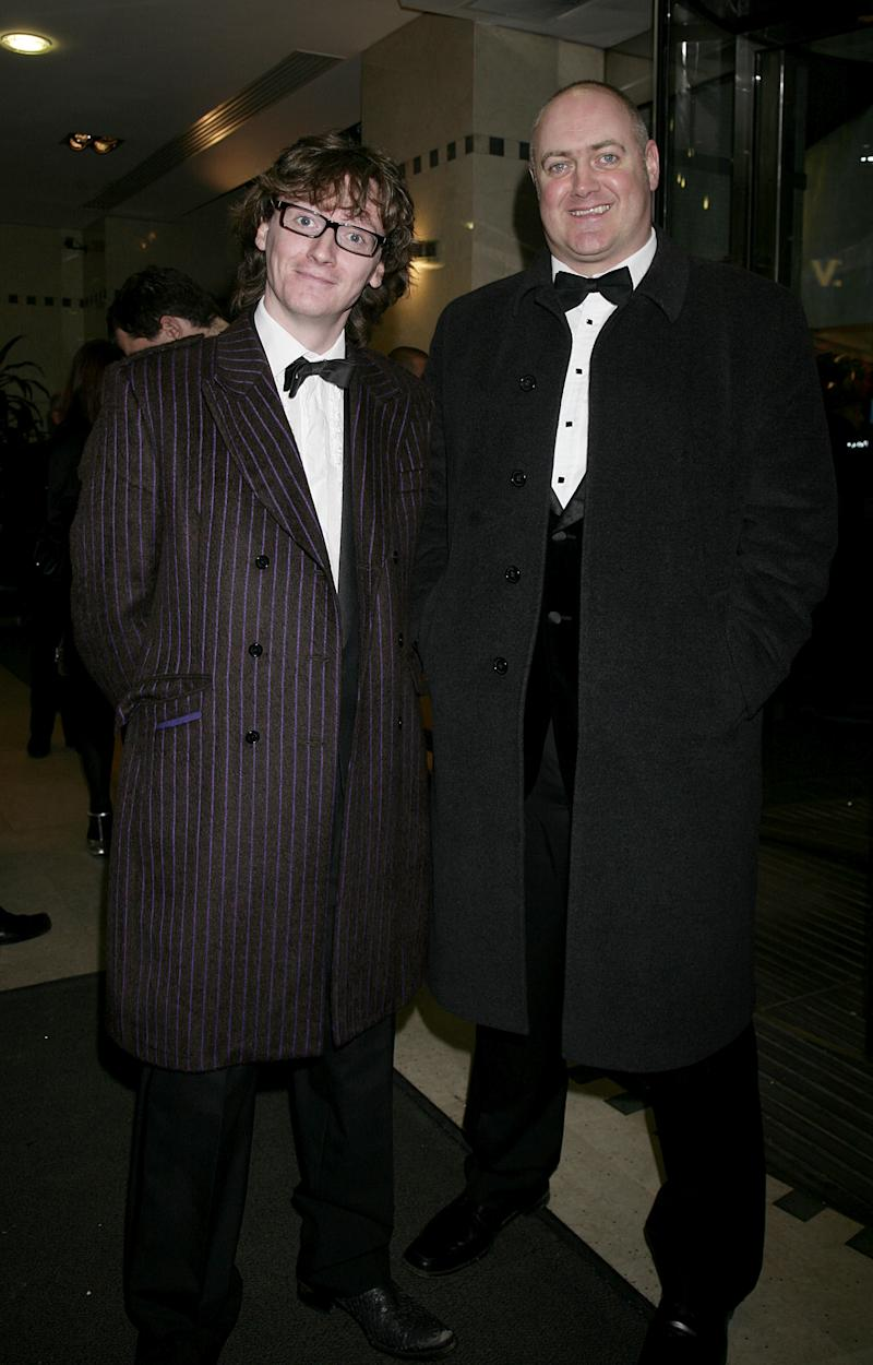 Dara O'Briain and Ed Byrne (left) arrive for the 2007 British Comedy Awards (Photo by Yui Mok - PA Images/PA Images via Getty Images)