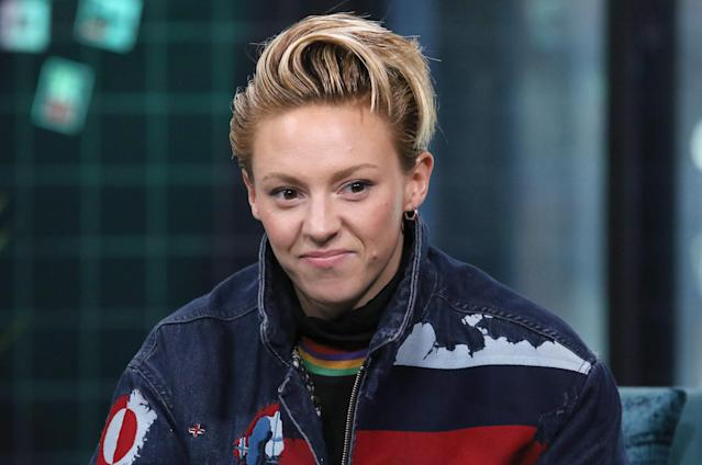 """Musician La Roux attends the Build Series to discuss the new release """"Supervision"""" at Build Studio on February 19, 2020 in New York City. (Photo by Jim Spellman/Getty Images)"""