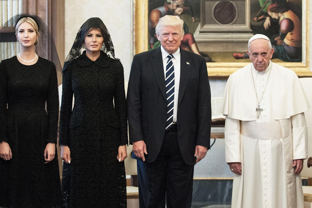 The Trump family meets Pope Francis.