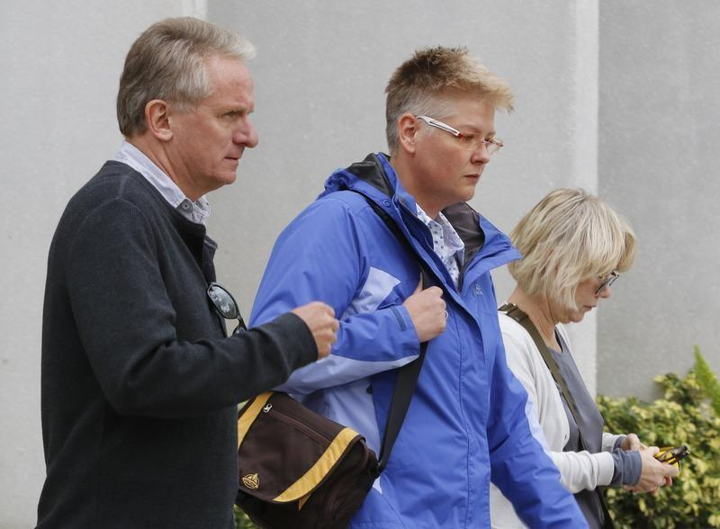 FILE PHOTO: Friends and family of Volkswagen executive Oliver Schmidt arrested on charges of conspiracy to defraud the United States in connection with the automaker's emissions cheating scandal
