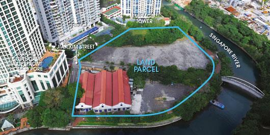 Aerial view of the Jiak Kim Street site
