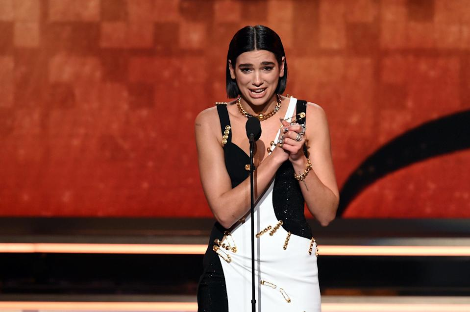 Dua Lipa at the 61st Grammy Awards (Getty Images for The Recording A)