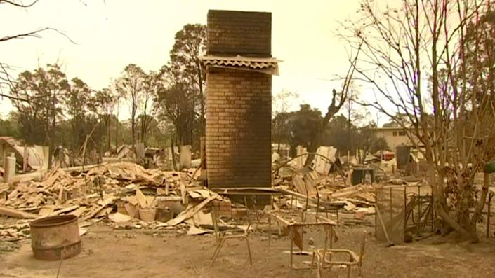 The fires left destruction in their wake.