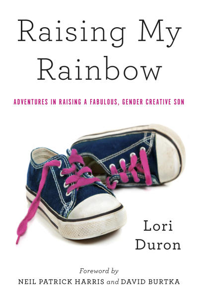 """This book cover image released by Broadway Books/Random House shows the cover of the book, """"Raising My Rainbow,"""" by Lori Duron. (AP Photo/Broadway Books/Random House)"""