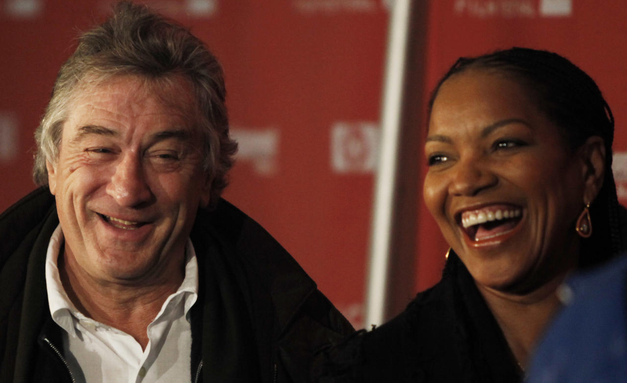 "FILE - Robert DeNiro, left, and Grace Hightower arrive at the premiere of ""Push"" during the Sundance Film Festival in Park City, Utah in this Jan. 16, 2009 file photo. Stan Rosenfield, the 68-year-old actor's spokesman, said Friday Dec. 23, 2011 De Niro and his 56-year-old wife, Grace Hightower, welcomed a healthy 7-pound, 2-ounce baby girl named Helen Grace Hightower through a surrogate mother. She is the couple's second child. (AP Photo/Matt Sayles, File)"